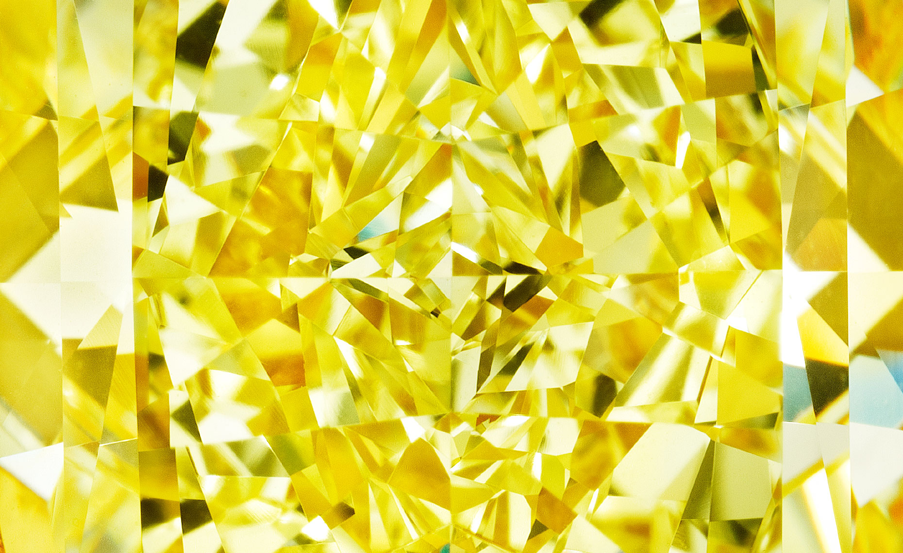 Yellow Diamond Facets