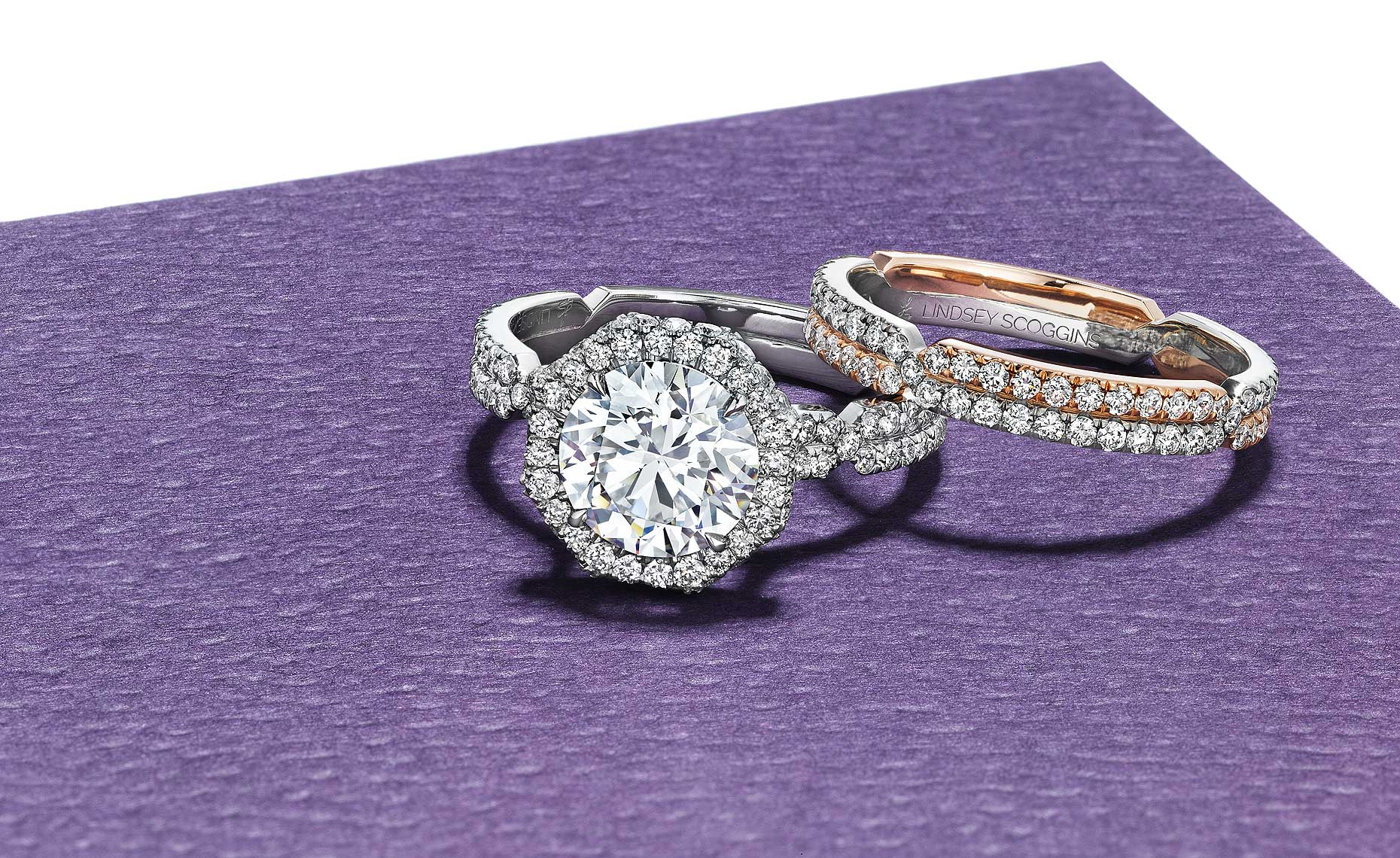 Rings on Purple