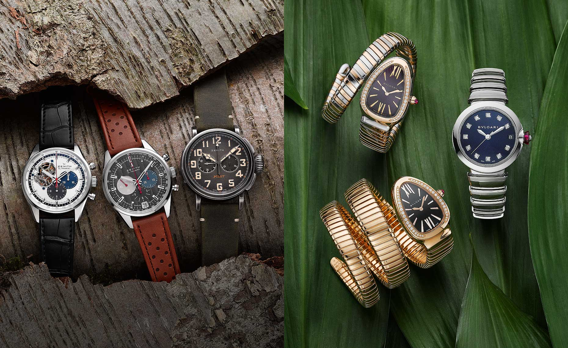 Watches with Natural Background