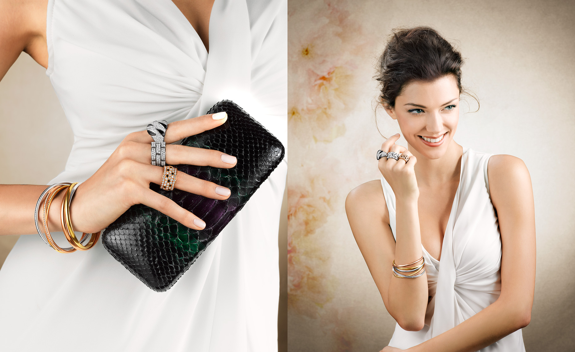 Woman Holding Clutch